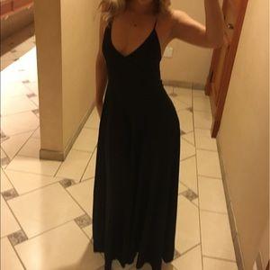 Black floor length jumpsuit
